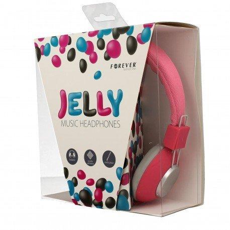 Słuchawki nauszne z mikrofonem Jelly do telefonu różowe