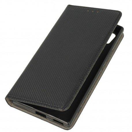 Etui boczne z klapką magnet book Sony Xperia XA1 czarny