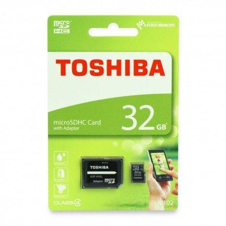 Karta pamięci microSD + adapter Toshiba 32GB 4 class do telefonu