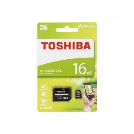 Karta pamięci microSD + adapter Toshiba 16GB 4 class do telefonu