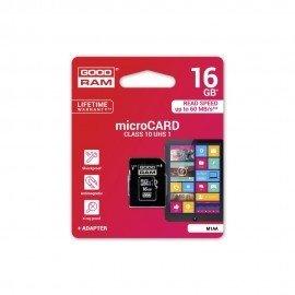 Karta pamięci microSD + adapter GOODRAM 16GB 10 class do telefonu