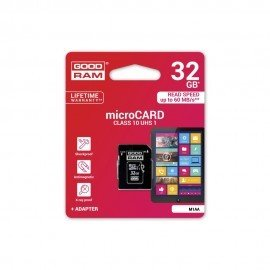 Karta pamięci microSD + adapter GOODRAM 32GB 10 class do telefonu