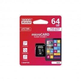 Karta pamięci microSD + adapter GOODRAM 64GB 10 class do telefonu