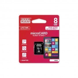 Karta pamięci microSD + adapter GOODRAM 8GB 10 class do telefonu