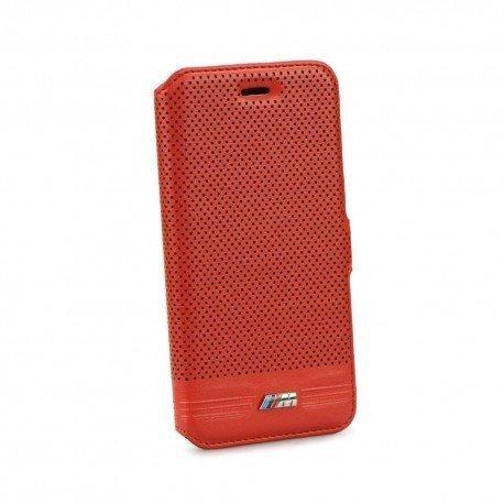 Oryginalne etui BMW book na telefon do iPhone 6 czerwone