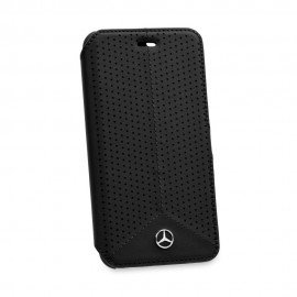 Oryginalne etui Mercedes-Benz portfelowe na telefon iPhone 6 czarne