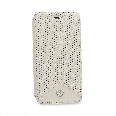 Oryginalne etui Mercedes-Benz portfelowe na telefon iPhone 6 biały