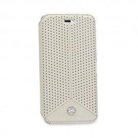 Oryginalne etui Mercedes-Benz portfelowe na telefon iPhone 6S szary