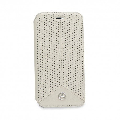 Oryginalne etui Mercedes-Benz portfelowe na telefon iPhone 6S biały