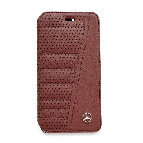 Oryginalne etui Mercedes-Benz portfelowe na telefon iPhone 6S bordowy
