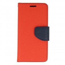 Etui portfelowe Fancy na telefon iPhone 6S czerwono-grantowy