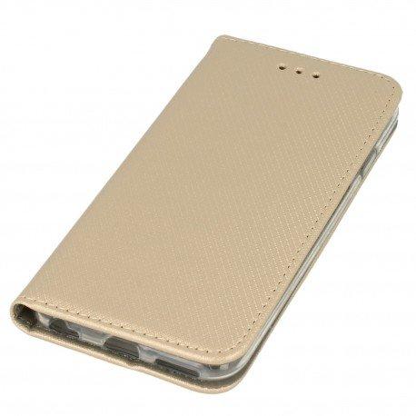 Etui boczne z klapką magnet book iPhone 6S złoty