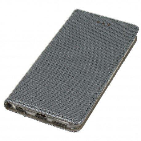 Etui boczne z klapką magnet book iPhone 6S stalowy