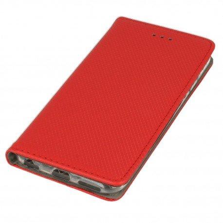 Etui boczne z klapką magnet book iPhone 6S czerwony