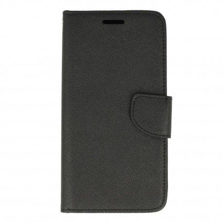 Etui portfelowe Fancy na telefon LG X Power 2 czarny