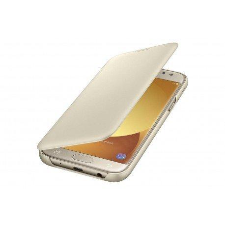 Oryginalne etui Flip Cover EF-WJ530CB Samsung Galaxy J5 2017 złoty