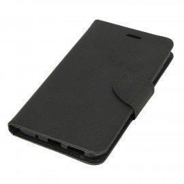 Etui portfelowe Fancy na telefon Asus Zenfone 3 Max ZC553KL czarny
