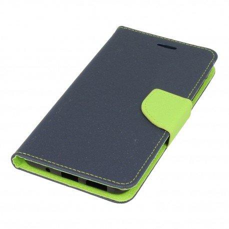 Etui portfelowe Fancy na telefon Asus Zenfone 3 Max ZC553KL granatowy