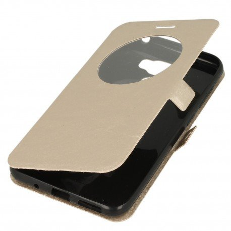 Etui S-View z funkcją podstawki do Asus Zenfone 3 Max ZC553KL złoty