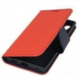 Etui portfelowe Fancy na telefon Sony Xperia L1 czerwony