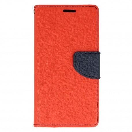 Etui portfelowe Fancy na telefon Samsung Galaxy J7 2017 czerwony