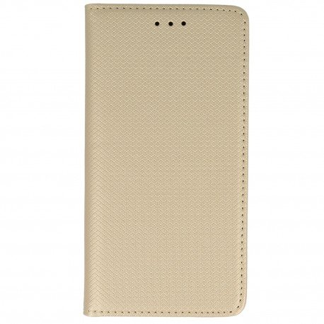 Etui z funkcją podstawki Magnet Book na telefon Samsung Galaxy J5 2017 złoty