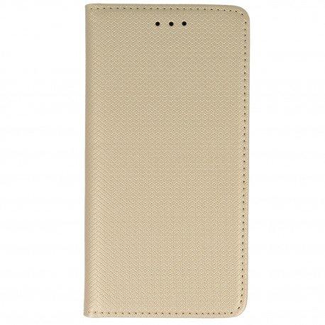 Etui z funkcją podstawki Magnet Book na telefon Samsung Galaxy J7 2017 złoty