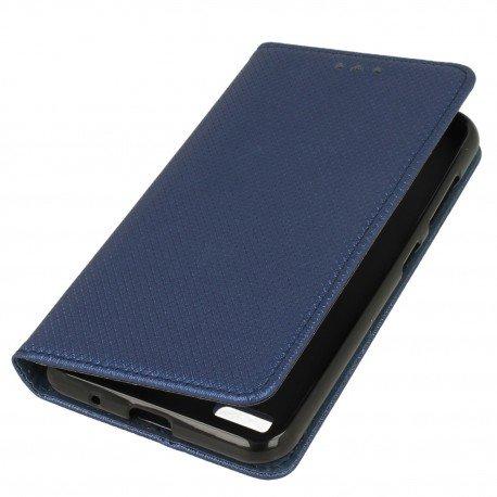 Etui z funkcją podstawki Magnet Book na telefon Sony Xpera L1 granatowy