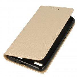 Etui z funkcją podstawki Magnet Book na telefon Sony Xperia L1 złoty