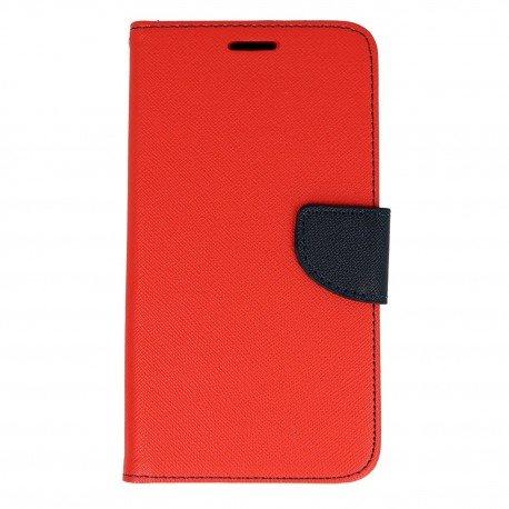 Etui portfelow Fancy na telefon Samsung Galaxy J5 2016 czerwony