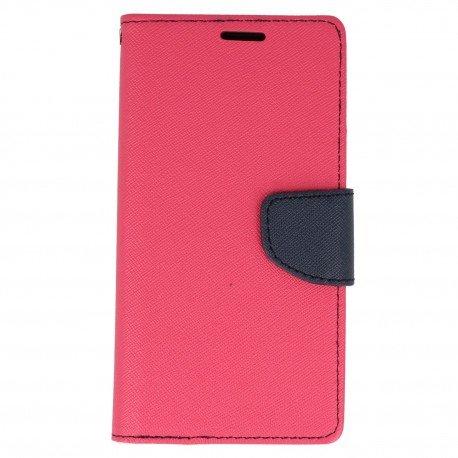 Etui portfelwe Fancy na telefon Samsung Galaxy J3 2017 różowy