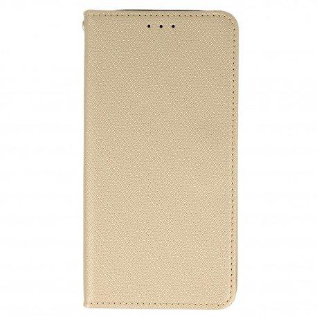 Etui boczne z klapką magnet book Asus Zenfone 3 Max ZC553KL złoty