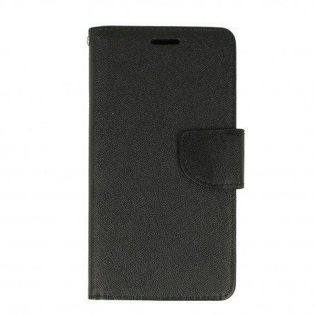 Etui portfelowe Fancy na telefon Huawei Y7 czarny