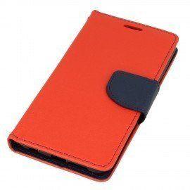 Etui portfelowe Fancy na telefon Huawei Honor 9 czerwony