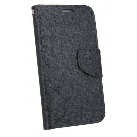 Etui portfelowe Fancy na telefon LG Q6 czarny