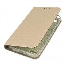 Etui boczne z klapką magnet book LG Q6 złoty