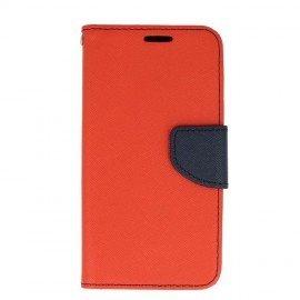 Etui portfelowe Fancy na telefon LG Q6 czerwony