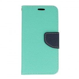 Etui portfelowe Fancy na telefon LG Q6 miętowy