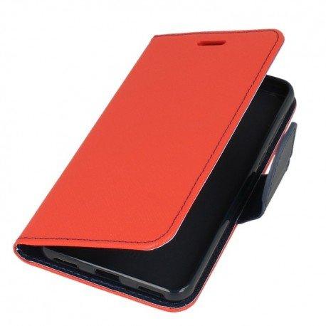 Etui portfelowe Fancy na telefon Huawei Y6 2017 czerwony
