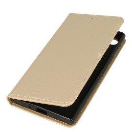 Etui boczne z klapką magnet book Sony Xperia XZ1 złoty