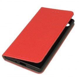 Etui boczne z klapką magnet book Sony Xperia XZ1 czerwony