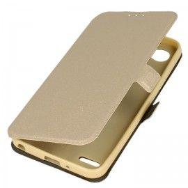 Etui na telefon Pocket Book do LG Q6 złoty