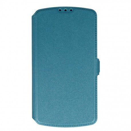 Etui na telefon Pocket Book na LG K4 LTE K130e niebieski