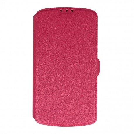 Etui na telefon Pocket Book na LG K4 LTE K130e różowy