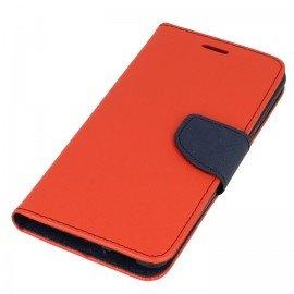 Etui portfelowe Fancy na telefon Nokia 8 czerwony