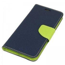 Etui portfelowe Fancy na telefon Nokia 8 granatowy