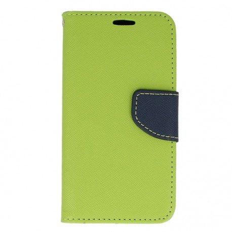 Etui portfelowe Fancy na telefon LG Q6 limonkowy