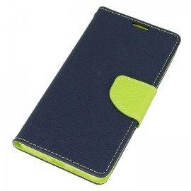 Etui portfelowe Fancy na telefon Nokia 5 granatowy