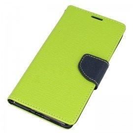 Etui portfelowe Fancy na telefon Nokia 5 limonkowy