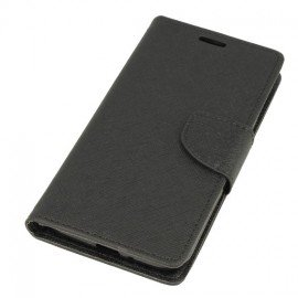 Etui portfelowe Fancy na telefon Nokia 5 czarny